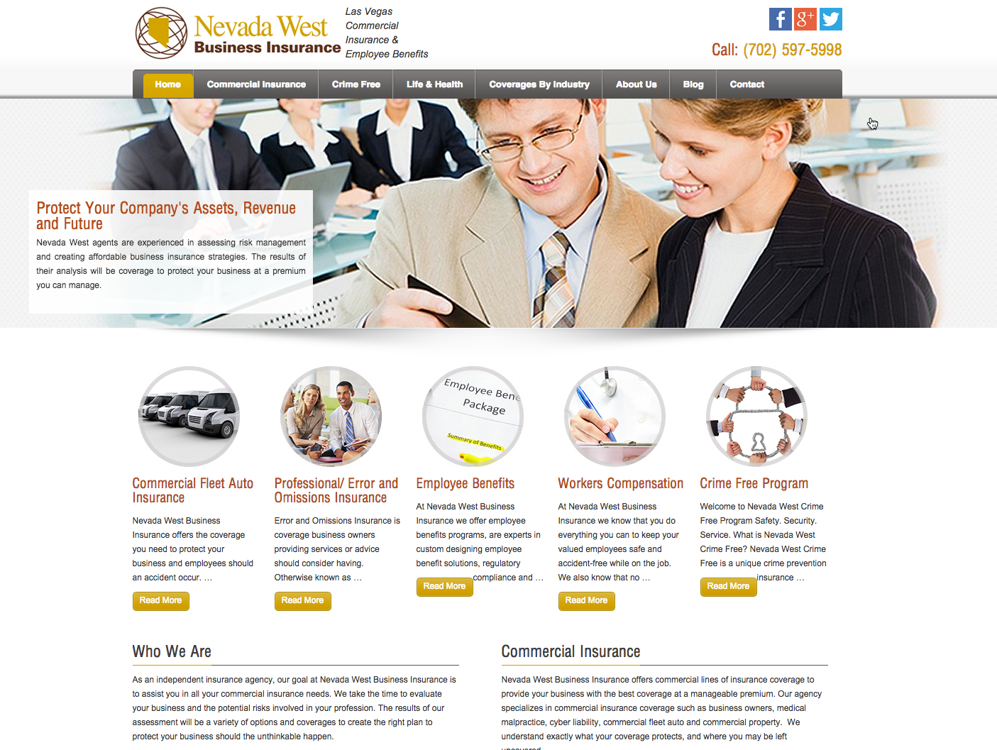 nv west business insurance - West Website